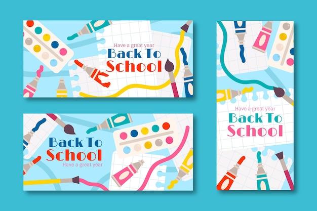 Zurück zur schule banner vorlage