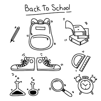 Zurück zur schule doodle