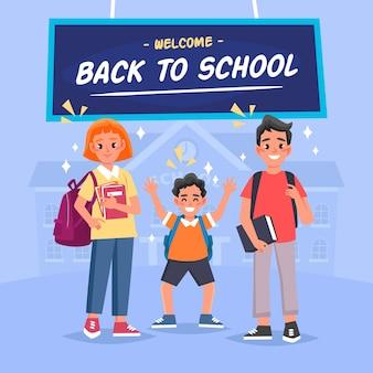 Zurück zur schule illustration