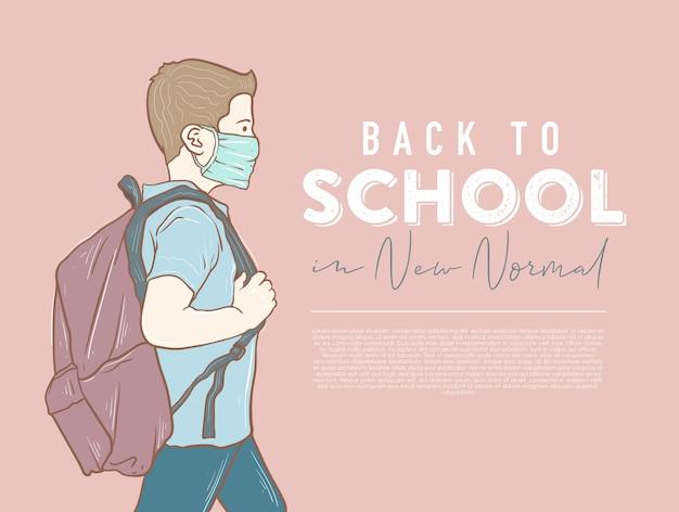 Zurück zur schule in neuer normalität