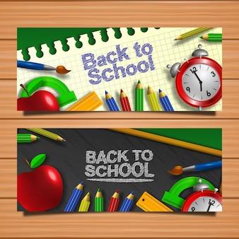 Zurück zur schule: karte willkommen