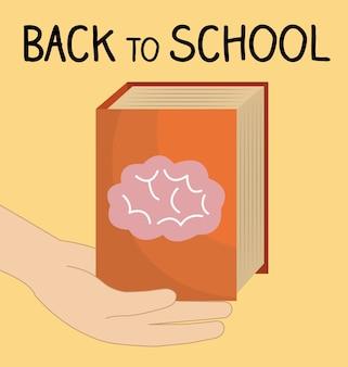 Zurück zur schule label mit brainstorming