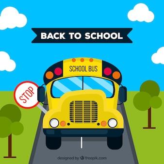 Zurück zur schule mit dem bus