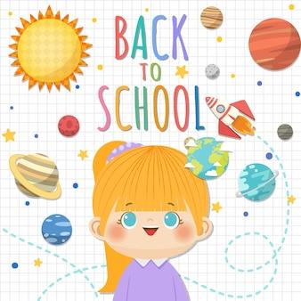 Zurück zur schule mit lächelnden kindern