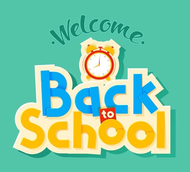 Zurück zur schule schriftzug