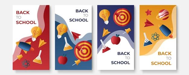 Zurück zur schule social media post template promotion