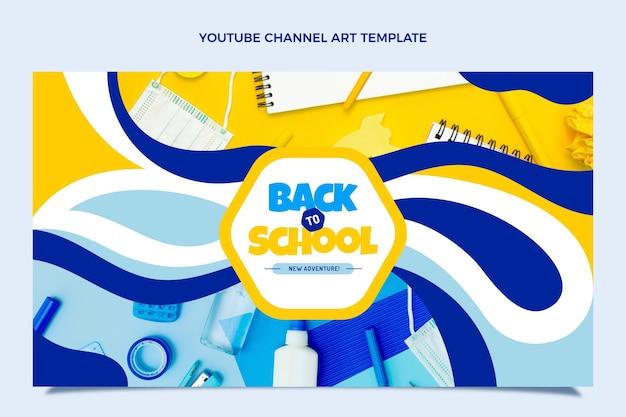 Zurück zur schule-youtube-kanal-kunstvorlage