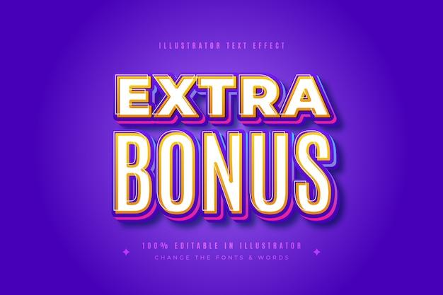 Zusätzlicher bonus-texteffekt