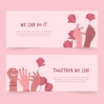 Zusammen können wir horizontale banner