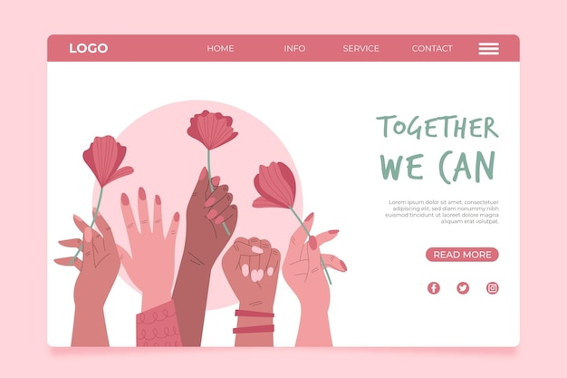 Zusammen können wir landing page