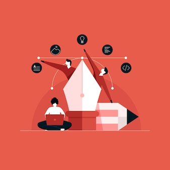 Zusammenarbeit zwischen kreativem designer und entwickler