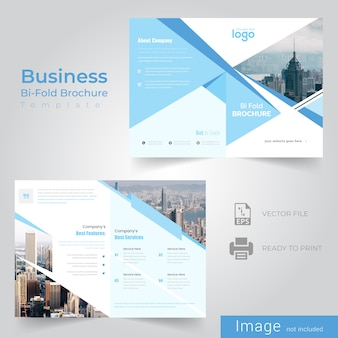 Zusammenfassung bifold broschürenvorlage