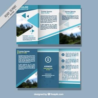 Zusammenfassung business-faltblatt-vorlage