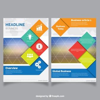 Zusammenfassung corporate broschüre abstrakt