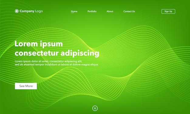 Zusammenfassung der abstrakten landingpage-vorlage der hintergrundwebsite