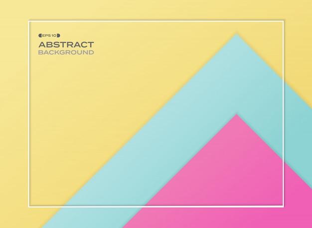 Zusammenfassung des blauen rosa und gelben steigungspapiers schnitt hintergrund.