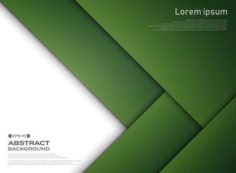 Zusammenfassung des grünen Papierschnitthintergrundes der Steigung.