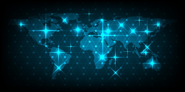 Zusammenfassung des weltkartennetzkonzeptes des globalen geschäfts