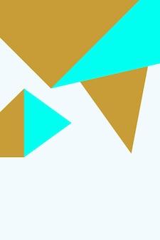 Zusammenfassung, formen aqua, goldtapetenhintergrund-vektorillustration.
