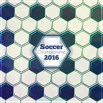 Zusammenfassung hexagonal fußball-hintergrund