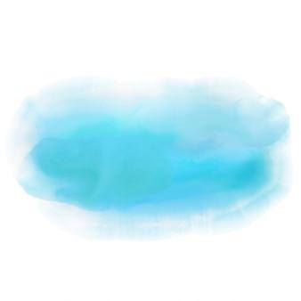 Zusammenfassung hintergrund mit einem blauen aquarellentwurf