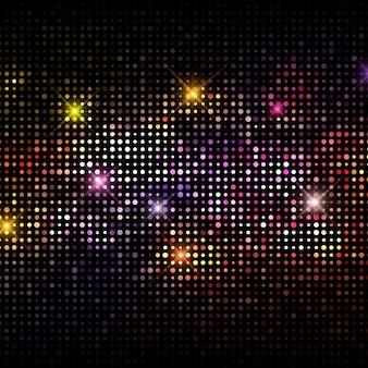 Zusammenfassung hintergrund mit einem disco-lichter design