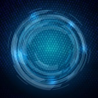 Zusammenfassung hintergrund mit einem techno entwurf des binären codes