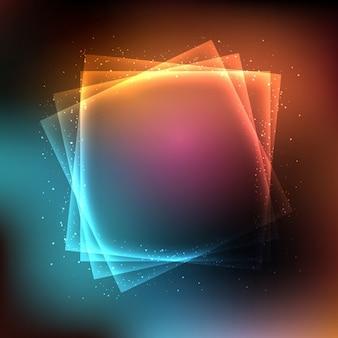 Zusammenfassung hintergrund mit leuchtenden lichter