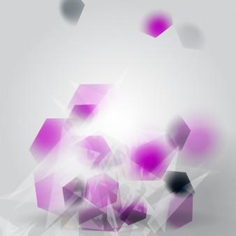 Zusammenfassung hintergrund mit polygonale formen