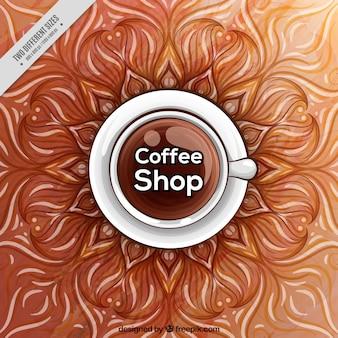 Zusammenfassung hintergrund mit tasse kaffee