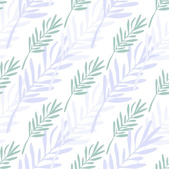 Zusammenfassung hinterlässt nahtloses muster. hintergrund der blattzweige. vektorillustration auf weißem hintergrund für textil- oder bucheinbände, tapeten, design, grafik, verpackung