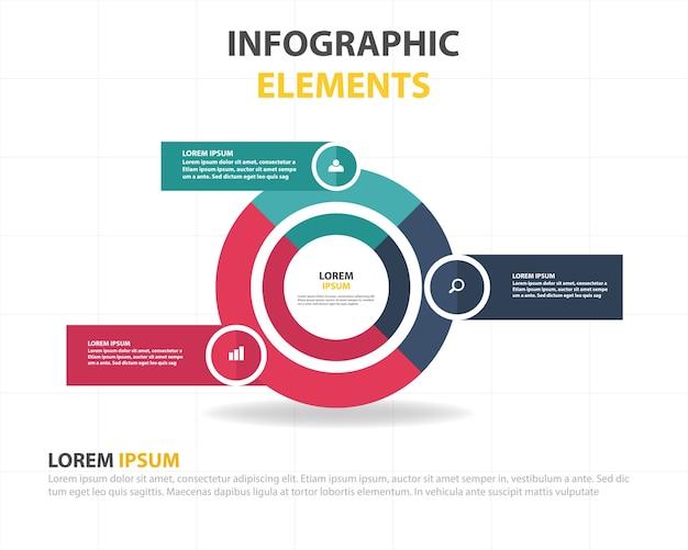 Zusammenfassung kreisförmige infografische business-vorlage