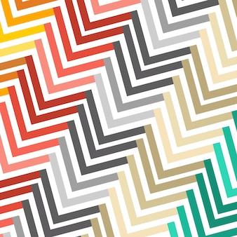 Zusammenfassung nahtlose geometrische multi farbige patternvector illustration