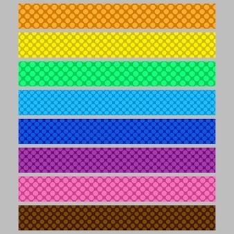 Zusammenfassung nahtlose polka dot muster web banner hintergrund vorlage gesetzt
