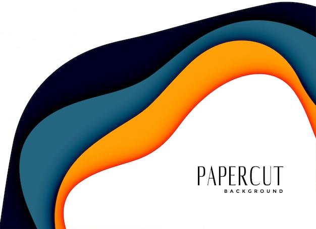 Zusammenfassung papercut layred hintergrunddesign