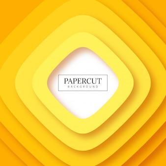 Zusammenfassung streift gelben papercut Hintergrund