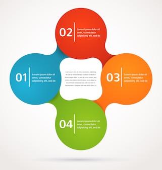 Zusammenfassung und infografiken, hintergrund, symbol
