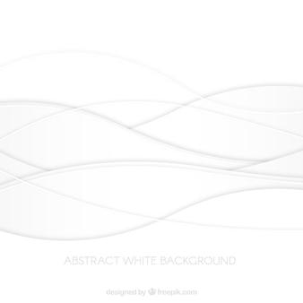 Zusammenfassung weißen hintergrund mit wellenförmigen linien