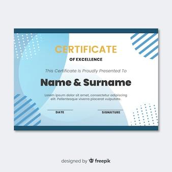 Zusammenfassung zertifikat vorlage konzept