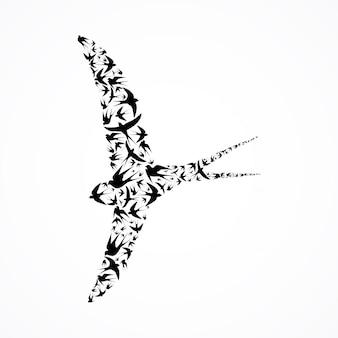 Zusammengesetzter vogel
