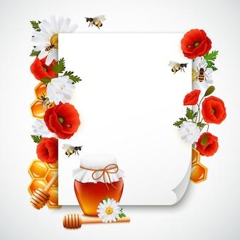 Zusammensetzung aus papier und honig