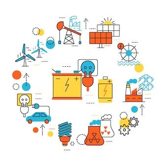 Zusammensetzung der energiequellenleitung