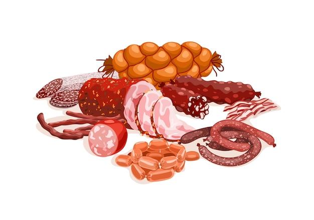 Zusammensetzung der fleischprodukte
