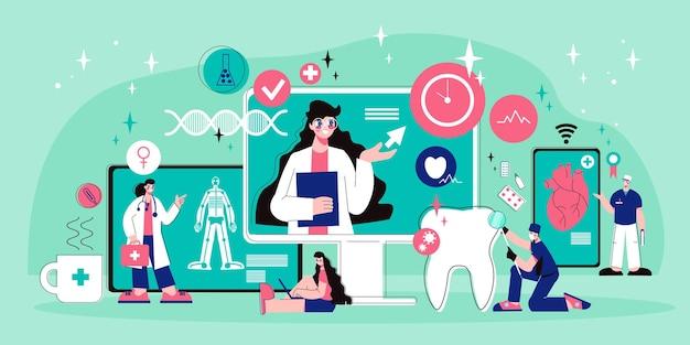 Zusammensetzung der online-medizin telemedizin