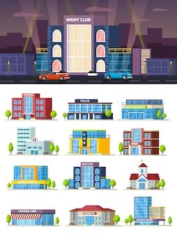Zusammensetzung der städtischen gebäude