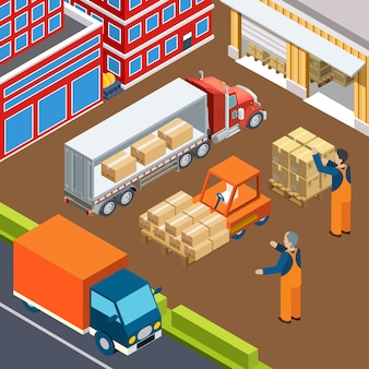 Zusammensetzung zum laden von industriefahrzeugen