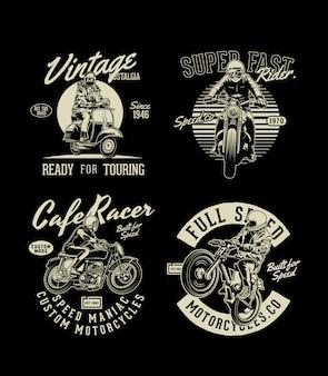 Zusammenstellung von motorrädern