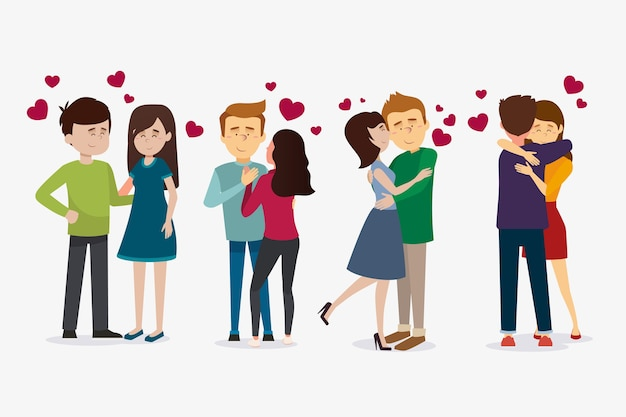 Zusammenstellung von valentinstagpaaren