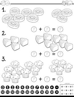 Zusatz-puzzle-spiel mit sweet food color book