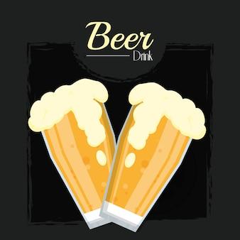 Zwei bier kalte tassen